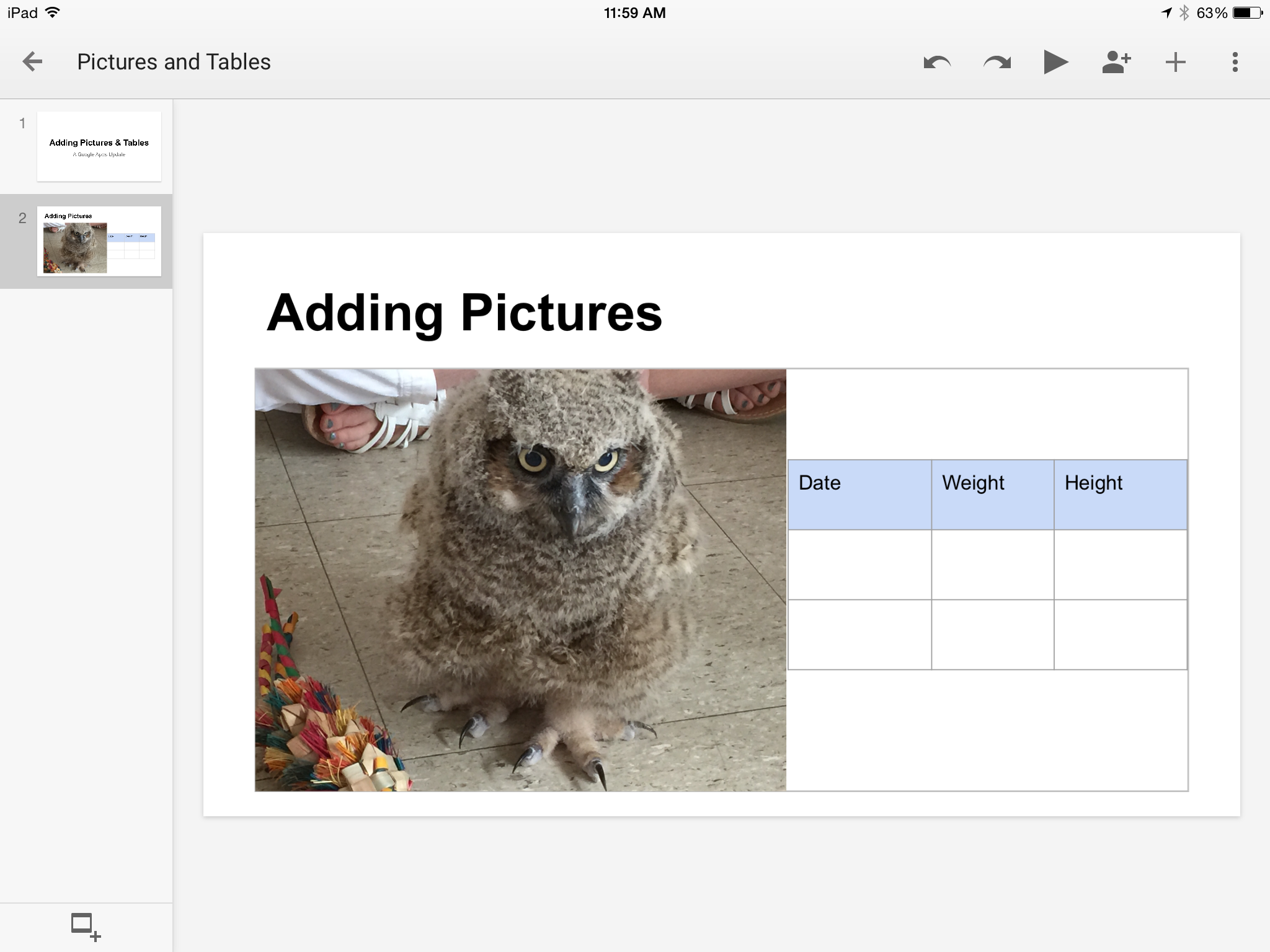 You Can Now Add Images and Tables in the Google Docs and Slides Apps